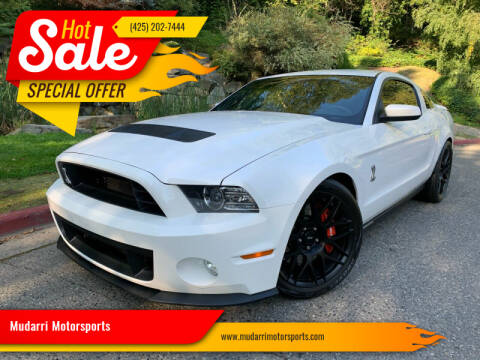 2012 Ford Shelby GT500 for sale at Mudarri Motorsports in Kirkland WA