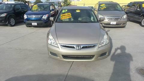 2007 Honda Accord for sale at Golden Gate Auto Sales in Stockton CA