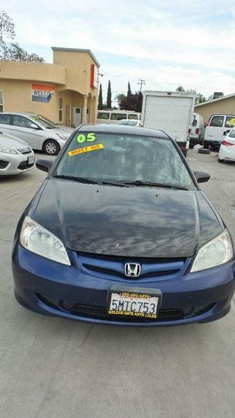 2005 Honda Civic For Sale At Golden Gate Auto Sales In Stockton CA