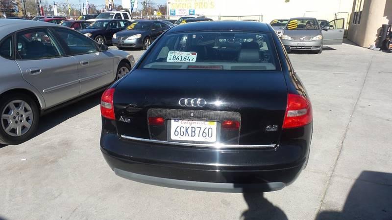 2001 Audi A6 for sale at Golden Gate Auto Sales in Stockton CA