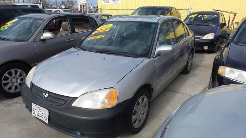 2003 Honda Civic for sale at Golden Gate Auto Sales in Stockton CA