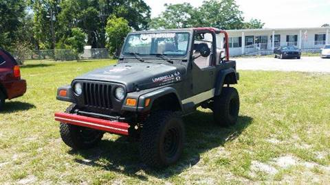 1997 Jeep Wrangler for sale at GOLDEN GATE AUTOMOTIVE,LLC in Zephyrhills FL