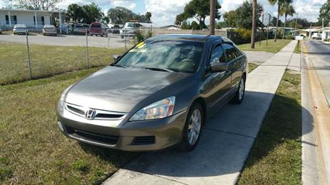 2006 Honda Accord for sale at GOLDEN GATE AUTOMOTIVE,LLC in Zephyrhills FL