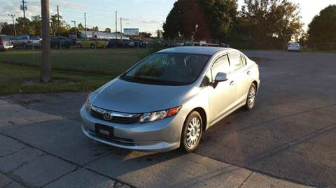 2012 Honda Civic for sale at GOLDEN GATE AUTOMOTIVE,LLC in Zephyrhills FL