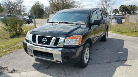 2009 Nissan Titan for sale at GOLDEN GATE AUTOMOTIVE,LLC in Zephyrhills FL