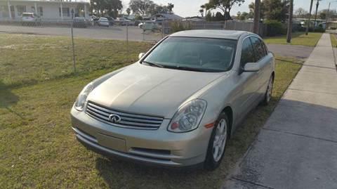 2003 Infiniti G35 for sale at GOLDEN GATE AUTOMOTIVE,LLC in Zephyrhills FL