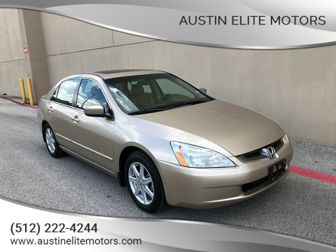 2004 Honda Accord for sale at Austin Elite Motors in Austin TX