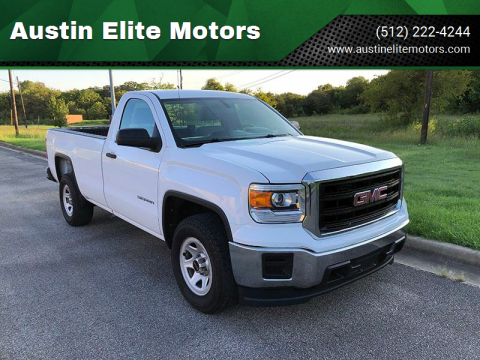 2014 GMC Sierra 1500 for sale at Austin Elite Motors in Austin TX