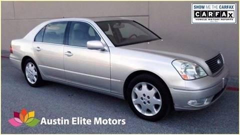 2003 Lexus LS 430 for sale at Austin Elite Motors in Austin TX