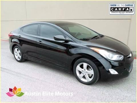 2013 Hyundai Elantra for sale at Austin Elite Motors in Austin TX