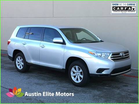 2013 Toyota Highlander for sale at Austin Elite Motors in Austin TX
