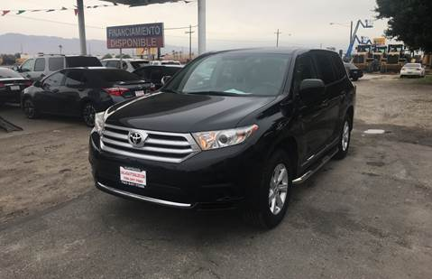 2012 Toyota Highlander for sale at Salas Auto Group in Indio CA