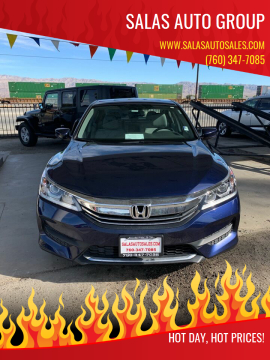 2017 Honda Accord for sale at Salas Auto Group in Indio CA