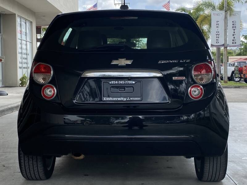 2016 Chevrolet Sonic LTZ Auto 4dr Hatchback - Davie FL