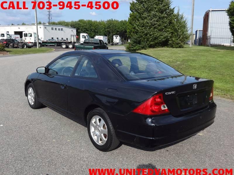 2003 Honda Civic EX 2dr Coupe   Fredericksburg VA