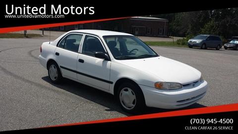 1998 Chevrolet Prizm for sale in Fredericksburg, VA