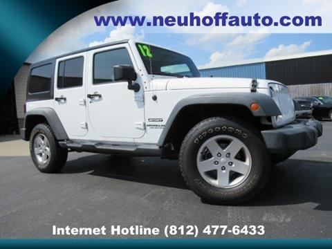 2012 Jeep Wrangler Unlimited for sale in Evansville, IN