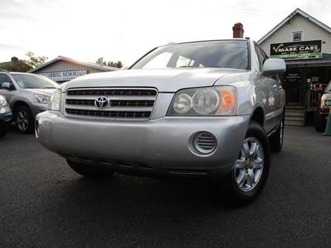 2003 Toyota Highlander for sale in Fredericksburg, VA