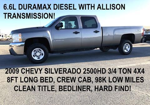 Duramax Diesel For Sale >> 2009 Chevrolet Silverado 2500hd For Sale In Tracy Ca