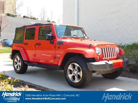 2016 Jeep Wrangler Unlimited for sale in Concord, NC