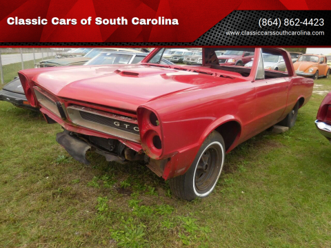 1965 Pontiac GTO for sale at Classic Cars of South Carolina in Gray Court SC