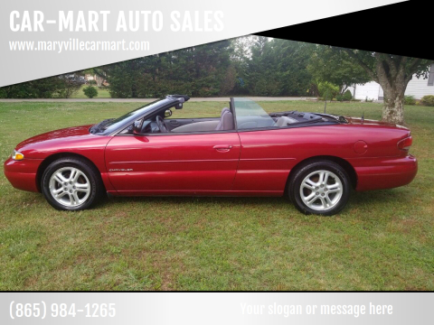 1996 Chrysler Sebring for sale at CAR-MART AUTO SALES in Maryville TN