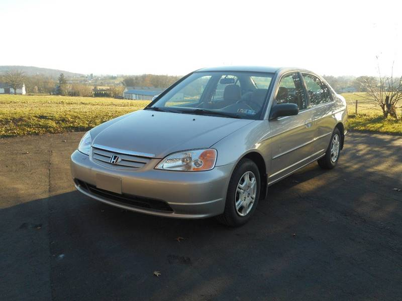 2002 Honda Civic LX 4dr Sedan W/Side Airbags   Bowmansville PA