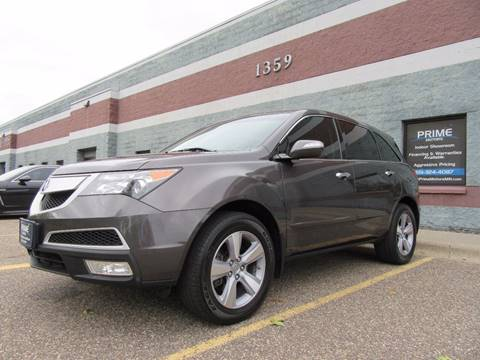 2012 Acura MDX for sale at PRIME MOTORS in Ham Lake MN
