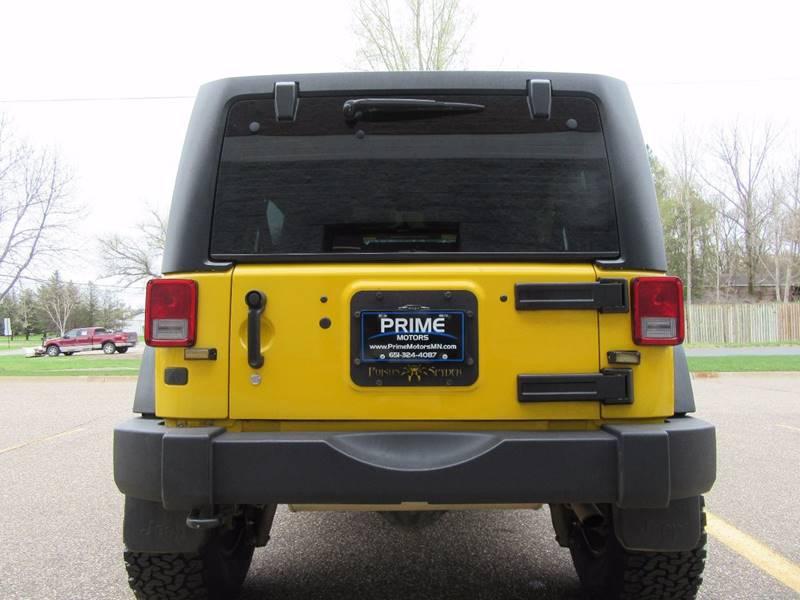 2011 Jeep Wrangler Unlimited for sale at PRIME MOTORS in Ham Lake MN