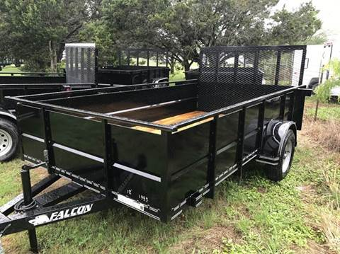 "2017 FALCON TRAILERS 12' X 77"" Single axle V-panel"