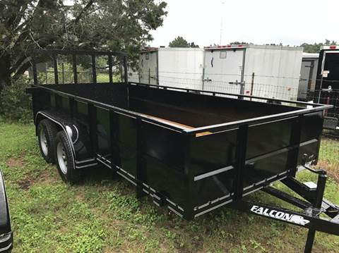 "2017 FALCON TRAILERS 14' X 77"" TANDEM V-PANEL"