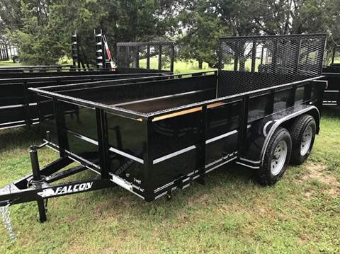 "2017 FALCON TRAILERS 12' x 77"" TANDEM V-PANEL"