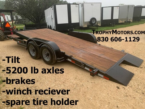 2020 FALCON TRAILERS 20' TILT CAR HAULER for sale at Trophy Trailers in New Braunfels TX