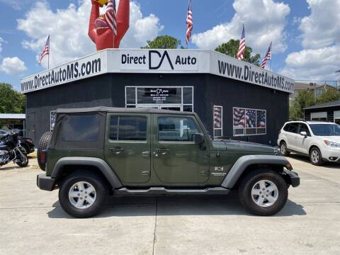 2007 Jeep Wrangler Unlimited for sale at Direct Auto in D'Iberville MS