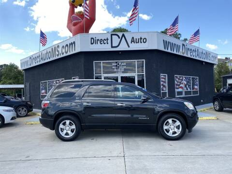 2008 GMC Acadia for sale at Direct Auto in D'Iberville MS