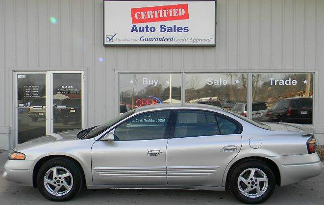Pontiac bonneville for sale in iowa for Des moines motors buy here pay here
