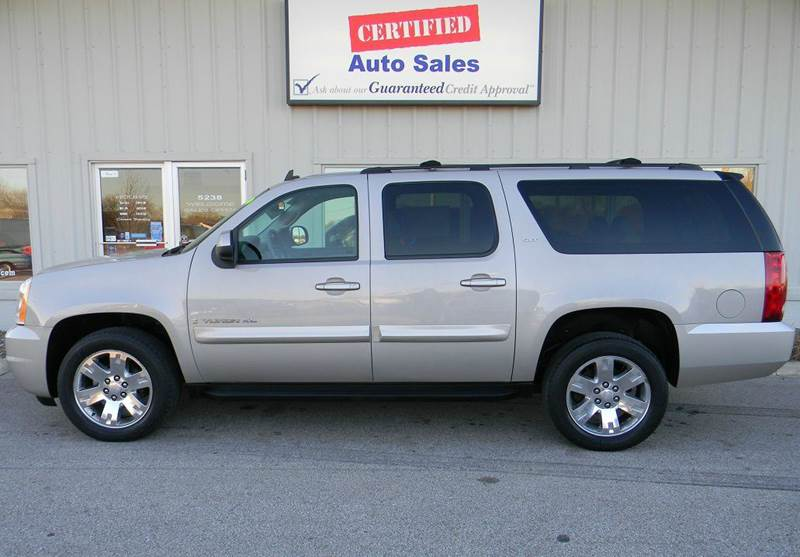 2007 gmc yukon xl slt 1500 4dr suv 4x4 w 4sb w 2 package in des moines ia certified auto sales. Black Bedroom Furniture Sets. Home Design Ideas