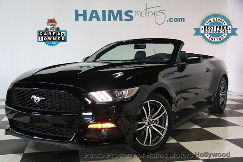 Ford Mustang 2017 EcoBoost Premium 2dr Convertible