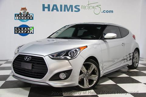 2015 Hyundai Veloster Turbo for sale in Hollywood, FL