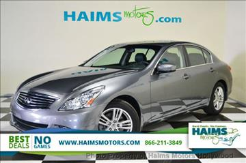 2012 Infiniti G37 Sedan for sale in Hollywood, FL