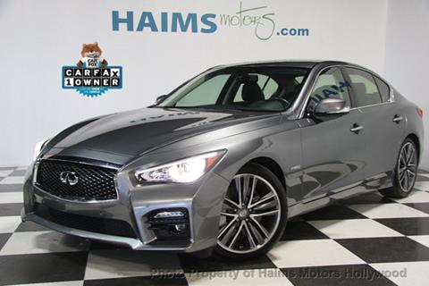 2015 Infiniti Q50 Hybrid for sale in Hollywood, FL