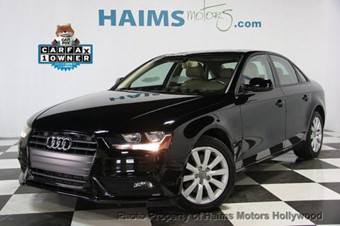 2014 Audi A4 for sale in Hollywood, FL