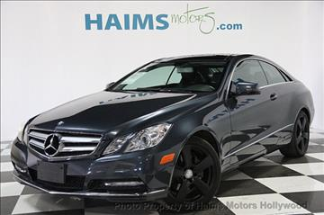 2013 Mercedes-Benz E-Class for sale in Hollywood, FL