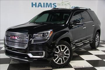 2014 GMC Acadia for sale in Hollywood, FL