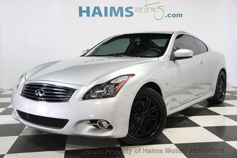 2014 Infiniti Q60 Coupe for sale in Hollywood, FL
