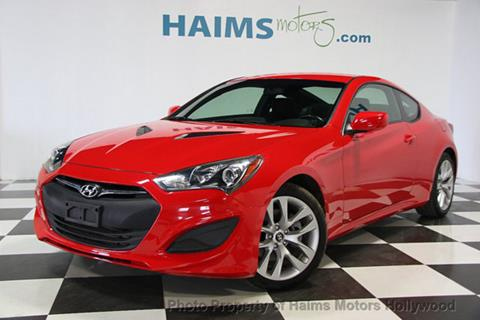 2013 Hyundai Genesis Coupe for sale in Hollywood, FL