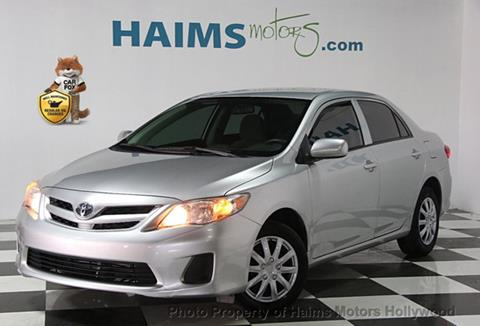 2013 Toyota Corolla for sale in Hollywood, FL