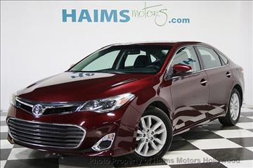 2013 Toyota Avalon for sale in Hollywood, FL