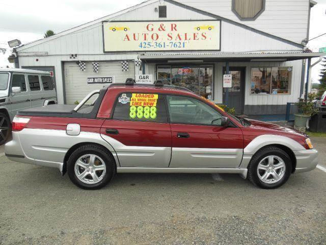 used 2003 subaru baja sport awd 4dr crew cab in lynnwood. Black Bedroom Furniture Sets. Home Design Ideas