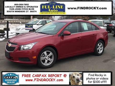 2014 Chevrolet Cruze for sale in South Windsor, CT